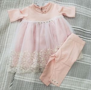 Other - Baby girls lacy dress with leggings
